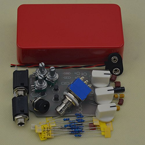 TTONE DIY Tremolo Guitar Effects Pedal Stompbox Pedals Kit Red Aluminum Enclosure Unfinished(NO HOLES) by TTONE
