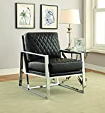 Coaster Home Furnishings 900622 Accent Chair, Black/Chrome Review