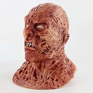 Zhanghaidong Hombre Scary Burnt Man Máscara Facial De Halloween Disfraz Disfraz Accesorio Película Halloween Horror Bioquímica