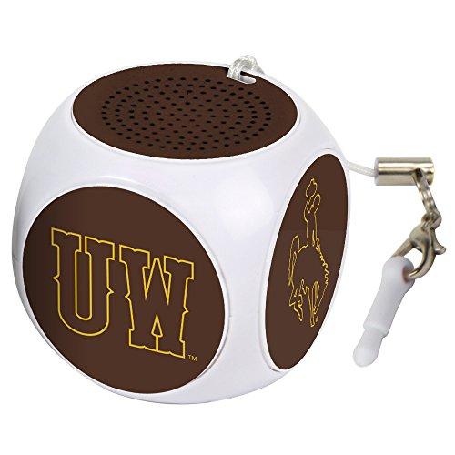 AudioSpice NCAA Wyoming Cowboys MX-100 Cubio Mini Bluetooth Speaker, White, One Size