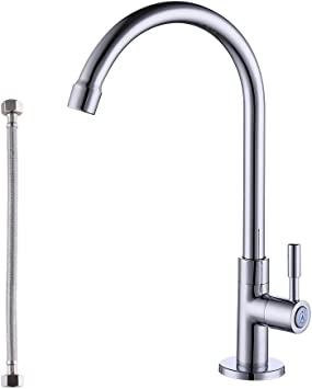 Kes Kitchen Faucet Lead Free Single Handle Bar Sink Faucet Single Hole Cold Water Only Brass Modern Replacement Tap Polished Chrome K8001a1lf Ch Amazon Ca Tools Home Improvement
