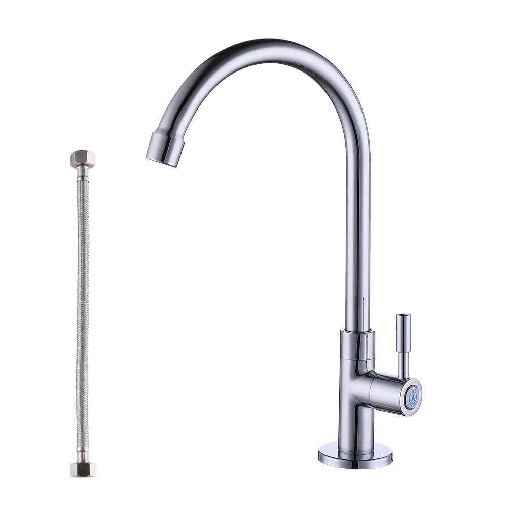 KES Lead-Free Cold Water Faucet for Kitchen Sink Replacement Brass Chrome, K8001A1LF