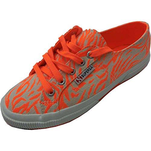 Superga - Zapatillas de gimnasia de Lona para mujer multicolor Arancione