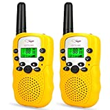 Friday Stocking Stuffer for 4-5 Year Old Boys, Two Way Radio Long Range Walkies Talkies for Kids Fun Popular Outdoor Best Top Toys for Birthday Gifts Presents for Boys Age 3-12 Yellow FDUSWT003