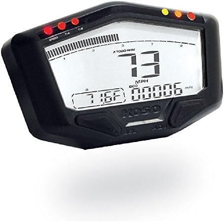 Amazon.fr : Compteur Universel KOSO DB-02R LCD pour moto quad scooter Compte-tours