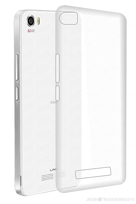 watch 77d30 a4a21 KAIRA Transparent Soft Ultra Slim Back Cover Case Lava Iris X8