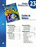 Indiana Holt Science and Technology Chapter 23 Resource File: Cycles in Nature, , 0030390729