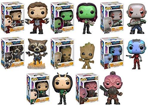 Pop! Movies: Guardians of the Galaxy 2 Mantis, Teserface, Star-Lord, Gamora, Groot, Nebula, Rocket and Drax! Set of 8