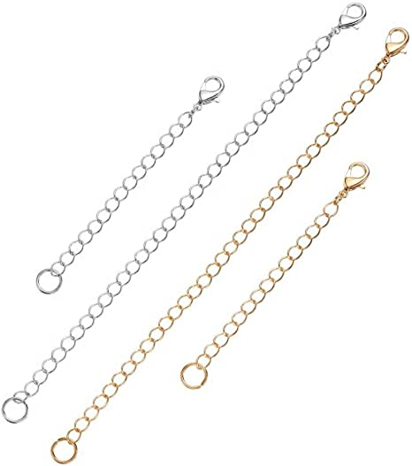 1pc Sterling Silver Chain Extender Removable Adjustable 3 inch Chain Extension for Necklace Anklet Bracelet SS303-3