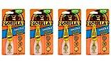 Gorilla Super Glue Brush & Nozzle, 10 g, Clear, (4 Pack)