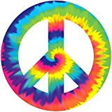 Psychedelic 60's Theme Party Peace Sign Large Cutout Decoration, Paper, 10""