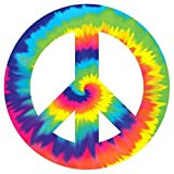 """Psychedelic 60's Theme Party Peace Sign Large Cutout Decoration, Paper, 10"""""""