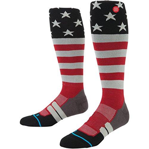 Stance Mens Stars And Stripes Moto Socks Large/X-Large Grey (Moto Socks)