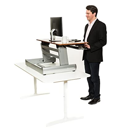 standing sized level manual v sstranspblsv inch tranzendesk stand desk black full products steady sit dual sitting