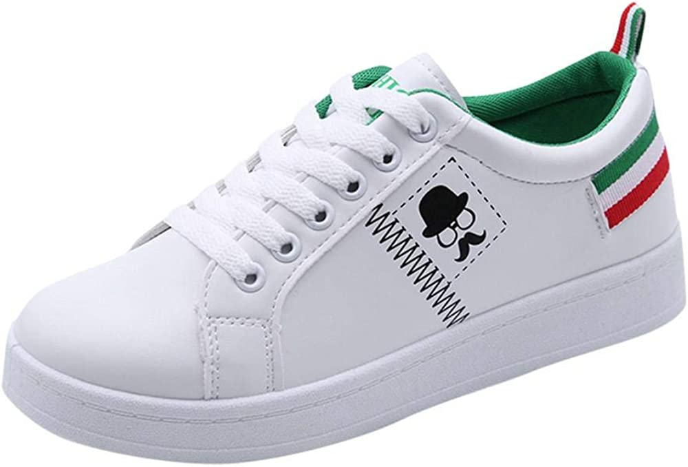 Yesmile Zapatos de mujer❤️Zapatos Zapatos de Mujer de Moda Zapatillas de Deporte de Barba de Barba Planas Zapatos Blancos Casuales: Amazon.es: Ropa y accesorios