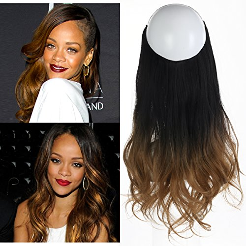 Black Ombre Hair Extension Bayalage Highlight Golden Blonde 18