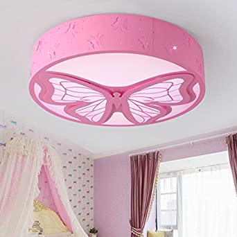 Beautiful Lilamins Led Ceiling Lamp Bedroom Living Room Warm Iron Round Children Girl  Simple Modern Princess Room