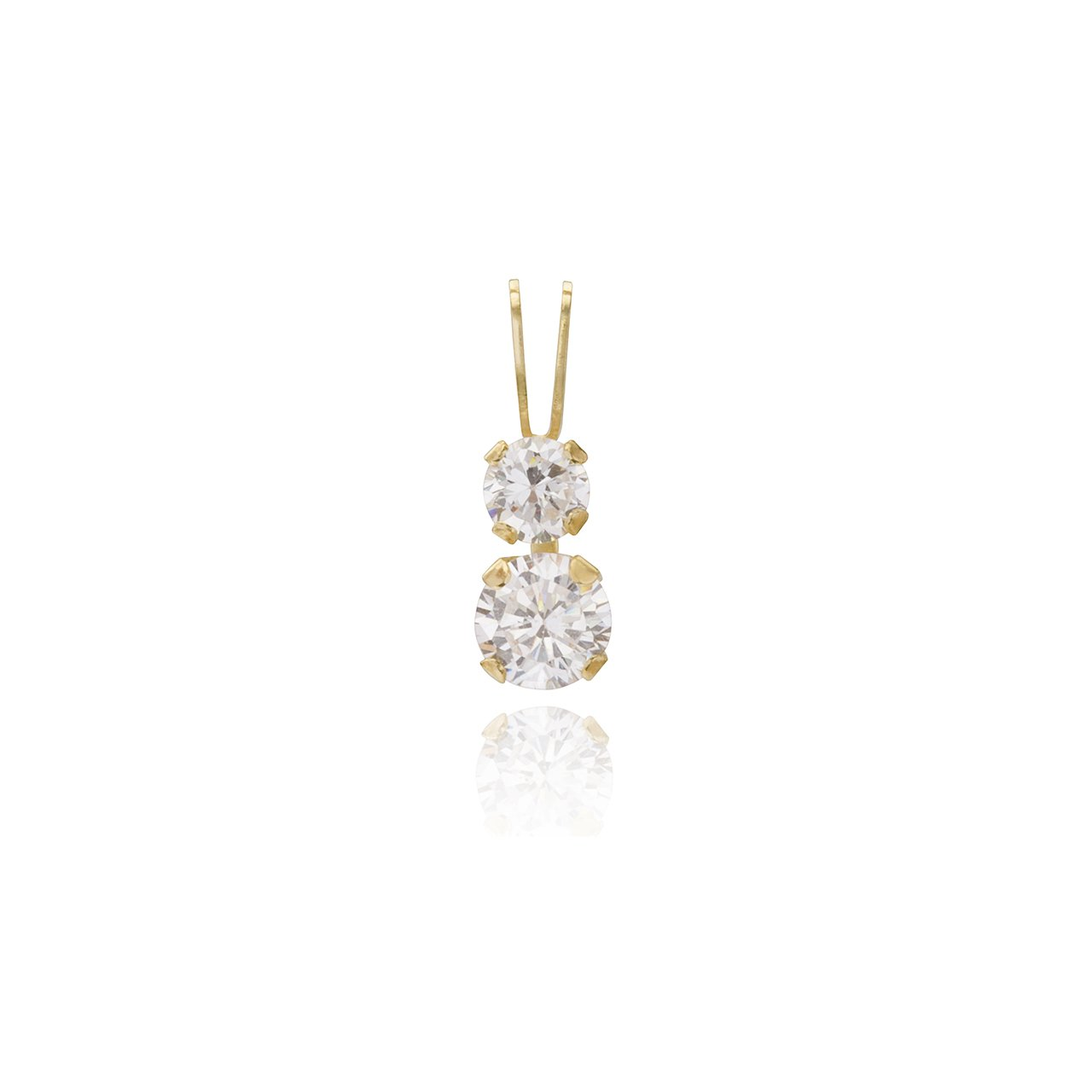 9ct Gold CZ Teardrop Pendant no chain Gift Boxed Made in UK