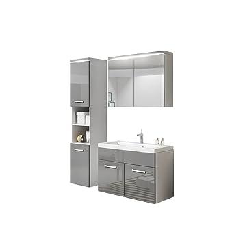 Badmöbel Set Paso mit Waschbecken und Siphon, Modernes Badezimmer ...