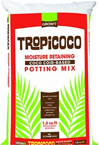 GROW!T GMTRHEAVY15 Tropicoco Moisture Retaining Potting Mix, 1.5 cu ft, 1 Bag, Brown (1 Cu Ft Moisture Retaining Compost Mix)