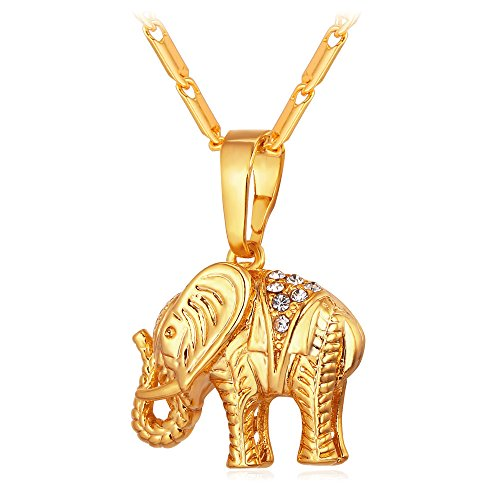 nt 18k Gold Plated Rhinestone Animal Amulet Necklace (Lucky Gold Plated Necklace)