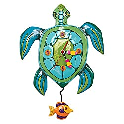 Allen Designs Sup Dude? Whimsical Turtle Pendulum Wall Clock