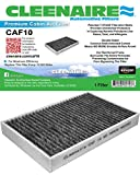 Cleenaire CAF10 The Most Advanced Protection Against SMOG Bacteria Dust Viruses Allergens Gases Odors, Cabin Air Filter For 12-15 Tesla Model S