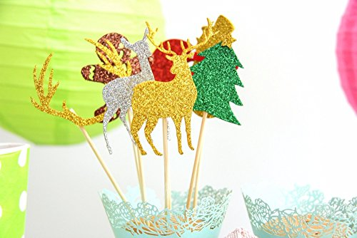 6 Pieces Mutil Styles Christmas Cupcake Toppers Cake Topper Picks For Home Party Decoration DIY Cake Christmas Gift - Cake Topper Picks - Cartoon Cake - Best Denver Malls In