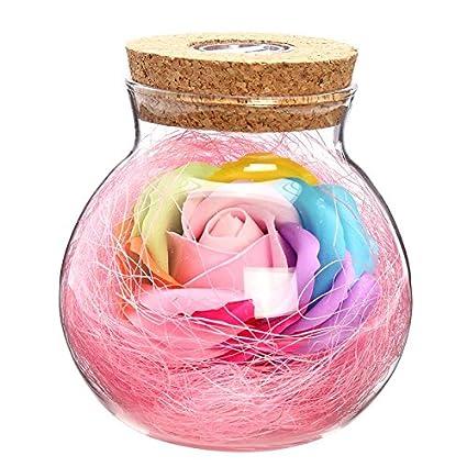 Led Romantic Rose Flower Remote Light Bottle Dimmer Lamp Night Light Flower Bottle Creative Gift For Girl Home Decoration Led Lamps Lights & Lighting
