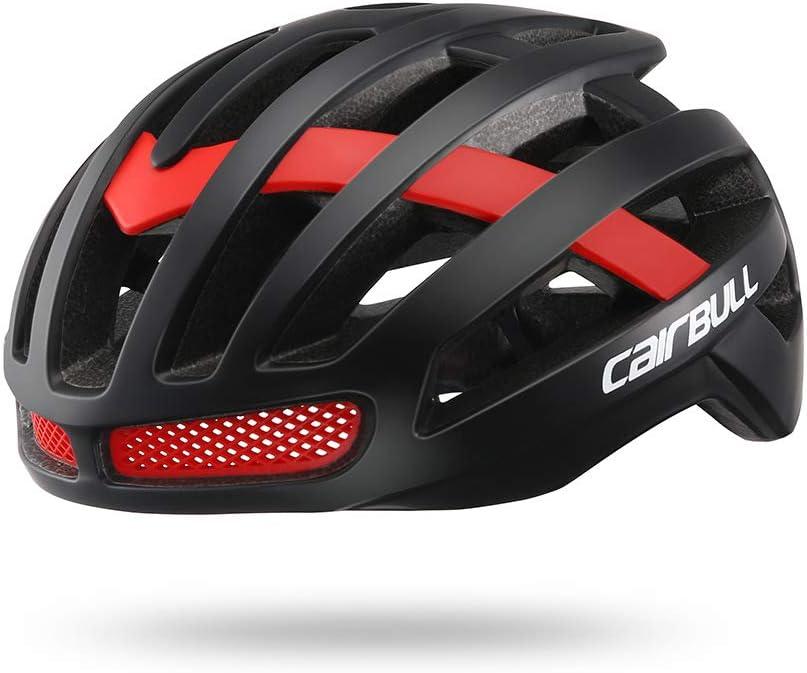 YHYHH Casco Bicicleta Hombre Carretera MTB Visera PC+EPS Doble ...