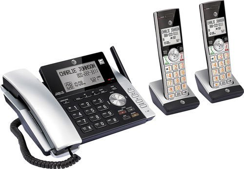AT&T CL84215 DECT 6.0 Expandable Cordless Phone System w/ Digital Answering