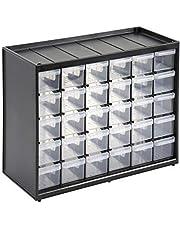 Stanley 1-93-980 Kleine onderdelen (36,5 x 15,5 x 22,5 cm, met 30 laden, onbreekbaar kunststof frame, transparante laden, geschikt voor wandmontage)