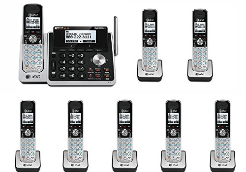 AT&T TL88102 8 Handset 2-Line Phone System with Answering System DECT 6.0