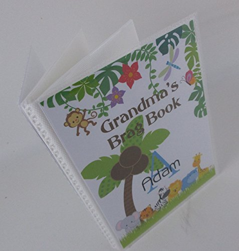 Grandmas Brag Book Jungle Animal IA#474 4x6 or 5x7 Pictures Personalized with Name Baby Photo Album