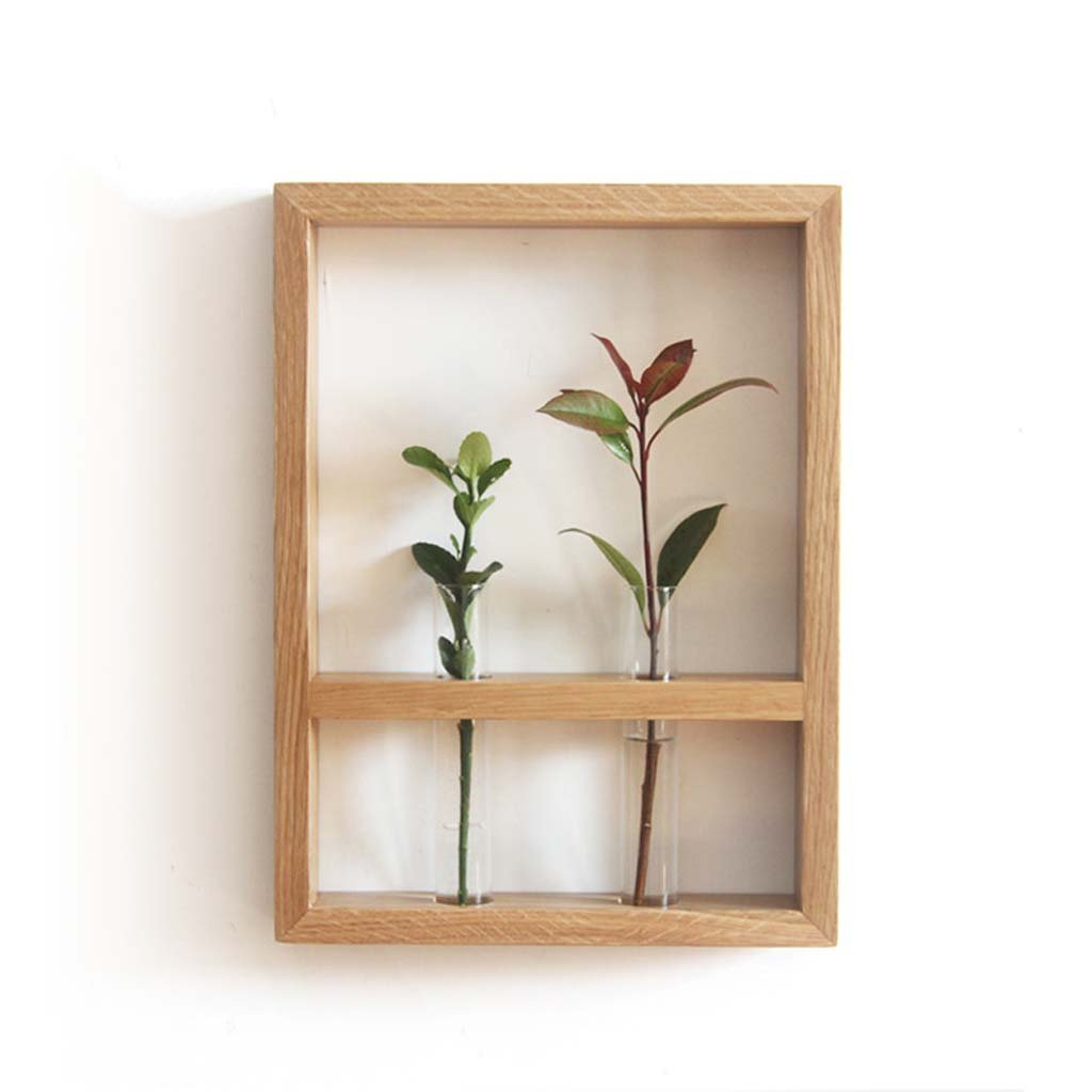 AIDELAI flower rack Solid wood flower racks indoor single plant walnut creative furniture wooden home wall decoration Patio Garden Pergolas (Style : A) by AIDELAI (Image #2)