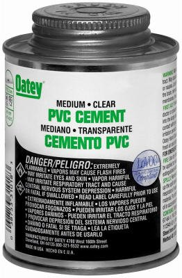 Oatey 31020 PVC Pipe Cement, Clear, 32-oz. - Quantity 12 by Oatey
