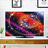 Leighhome Protect Your TV Apocalyptic Cosmos Design Circular Striped Sky Solar System Protect Your TV W30 x H50 INCH/TV 52''