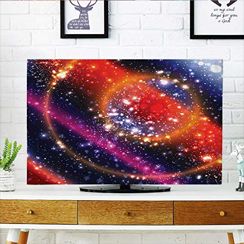 Leighhome Protect Your TV Apocalyptic Cosmos Design Circular Striped Sky Solar System Protect Your TV W30 x H50 INCH/TV 52'' by Leighhome