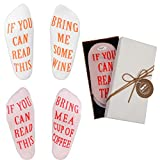 """Wine Socks - Funny Wine Gifts with Gift Box""""If You Can Read This"""" Socks,Best Novelty Gifts for Wine Lover,Mom or Wife,Perfect Valentines Day,White Elephant,Birthday,Hostess or Housewarming Gift Idea"""