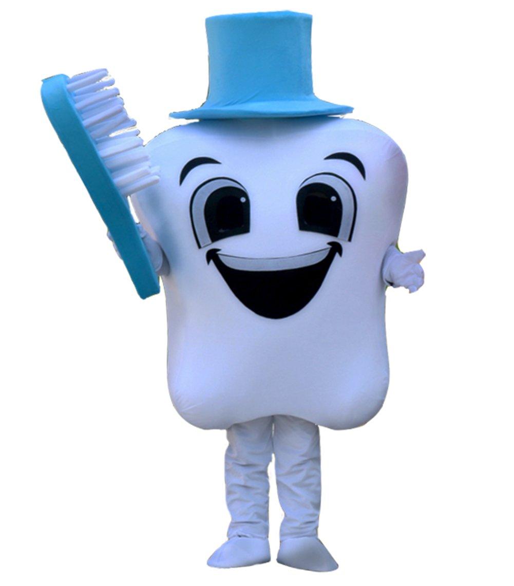 Huiyankej Tooth Mascot Costume Tooth Costume (Medium, Blue)