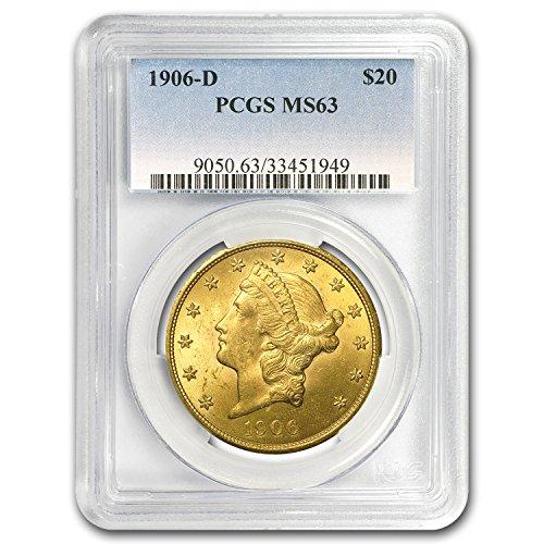 1906 D $20 Liberty Gold Double Eagle MS-63 PCGS G$20 MS-63 PCGS