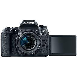 Canon EOS 77D DSLR Camera + 18-55mm & 75-300mm Dual Lens Tascam Video Creator Kit