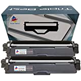 MyTripleBest Set of 2 Compatible Laser Toner Cartridges for Brother TN-221BK High Yield Black Laser Toner Cartridges