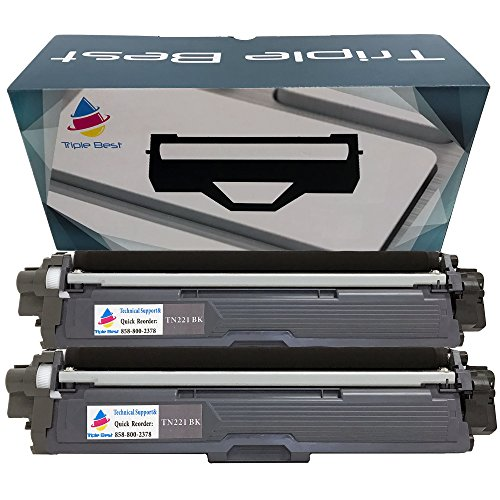 MyTripleBest Set of 2 Compatible Laser Toner Cartridges for Brother TN-221BK High Yield Black Laser Toner Cartridges by MyTriplebest (MTB)