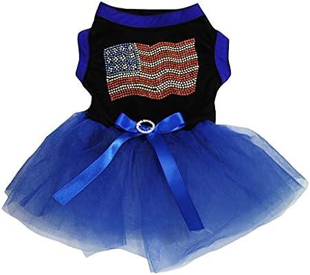Petitebelle Vestido Azul Con Bandera De Estados Unidos
