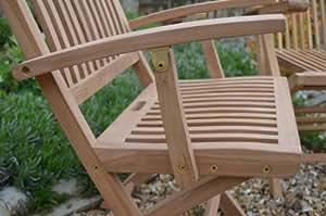 Winchester - Solid Teak Classic Garden Folding Armchair