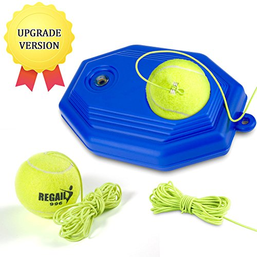 VGEBY Tennis Ball Trainer, Exercise Coach Self-Study Rebound Ball with Tennis Training Partner Practice Baseboard for Kids and Beginner(C-Tennis Trainer with 2 Balls)