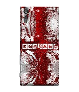 ColorKing Football England 09 Multi Color shell case cover for Sony Xperia XZ