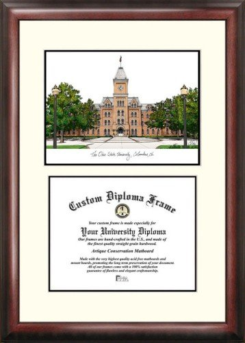 (Ohio State University Scholar Framed Lithograph with Diploma)
