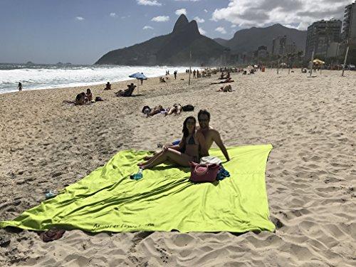 Monster Towel The Worlds Biggest Towel. Big Beach Towel Microfiber Oversized Large Huge Beach Towel(Lime Greeen) by Monster Towel (Image #4)